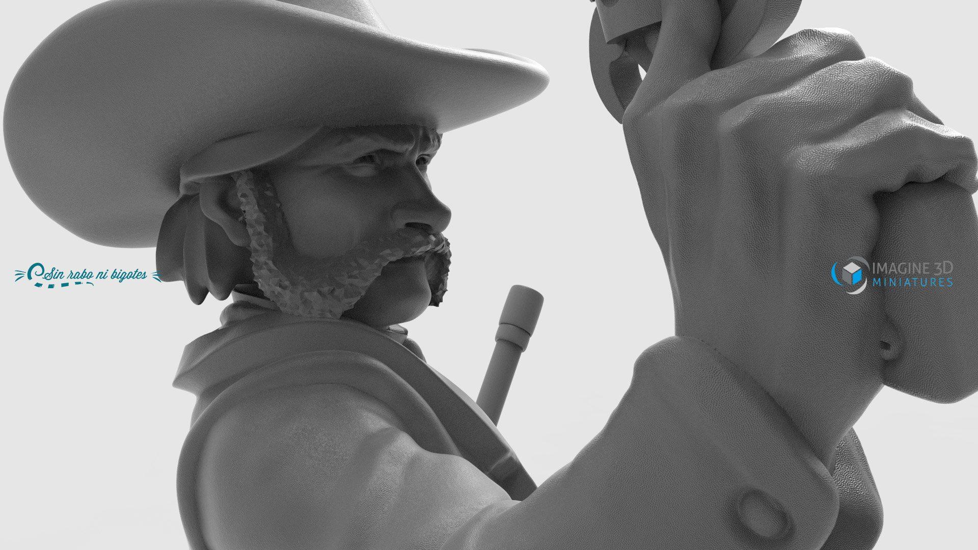 miniaturapersonalizada vaquero clint eastwood
