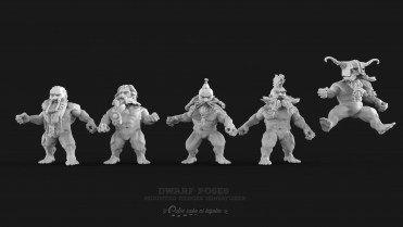 miniaturas enanos fantasia anatomia modelo 3d