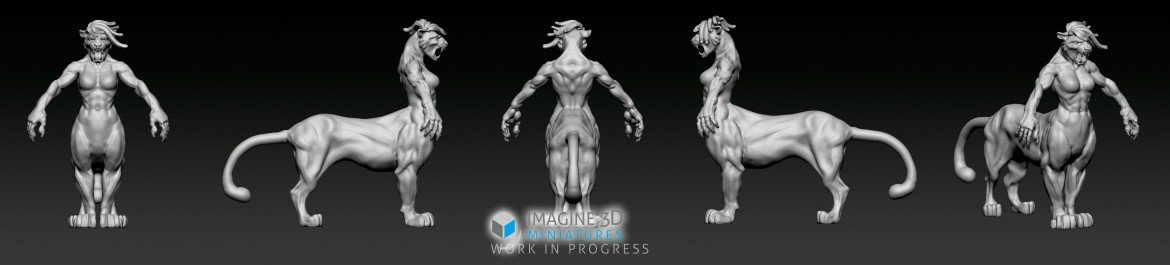 pumataur 3d modelling progress