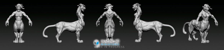 pumataur 3d modelling progress