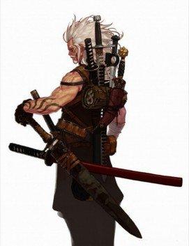 ilustración maestro espadachin