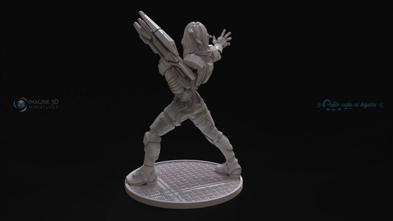 miniatura comandante shepard cara personalizada