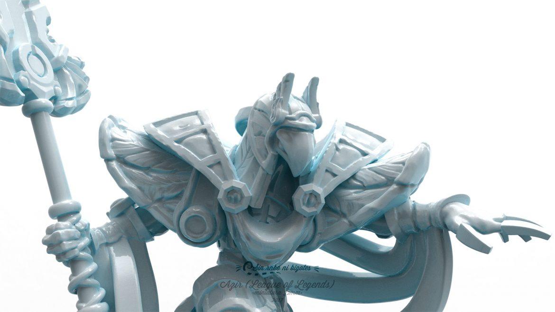 detalle miniatura personalizada azir atacando leage of legends