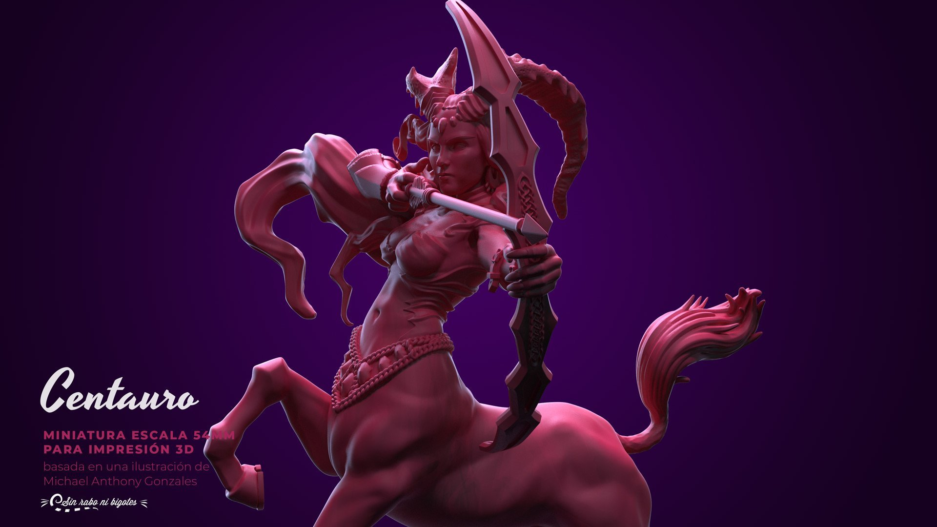 female centaur mage custom miniature for roleplaying