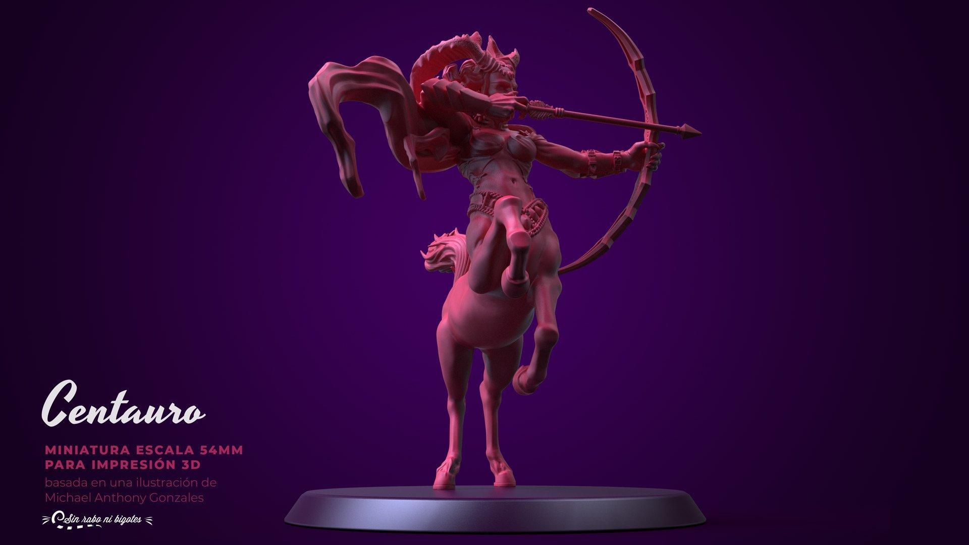 centauro arquera miniatura furry personalizada para impresion 3d