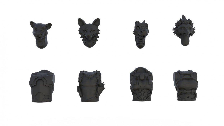cabezas y torsos minis dracones