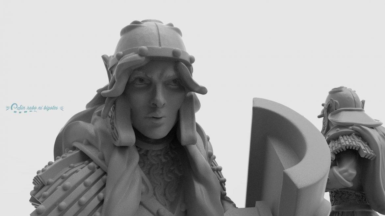 miniatura personalizada elfa legionaria 3D