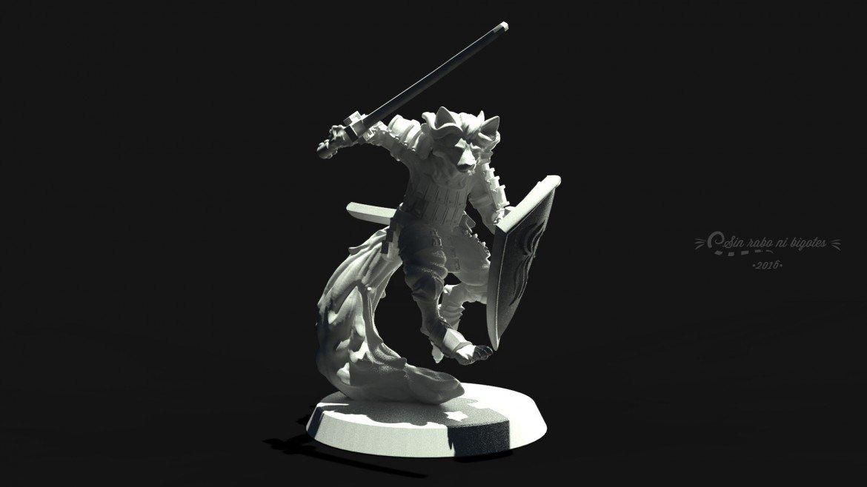 miniatura personalizada 28mm zorro samurai
