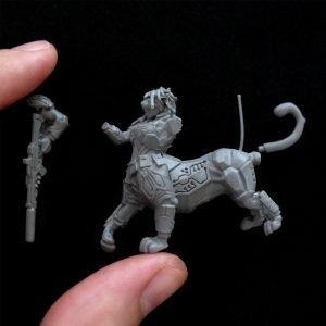 casteo miniatura 3d para produccion en resina