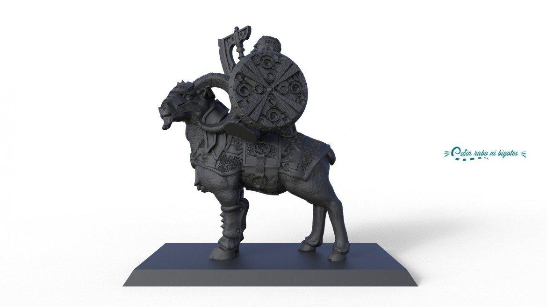 miniatura para impresion 3D cabra