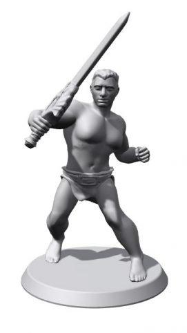 pose miniatura guerrero