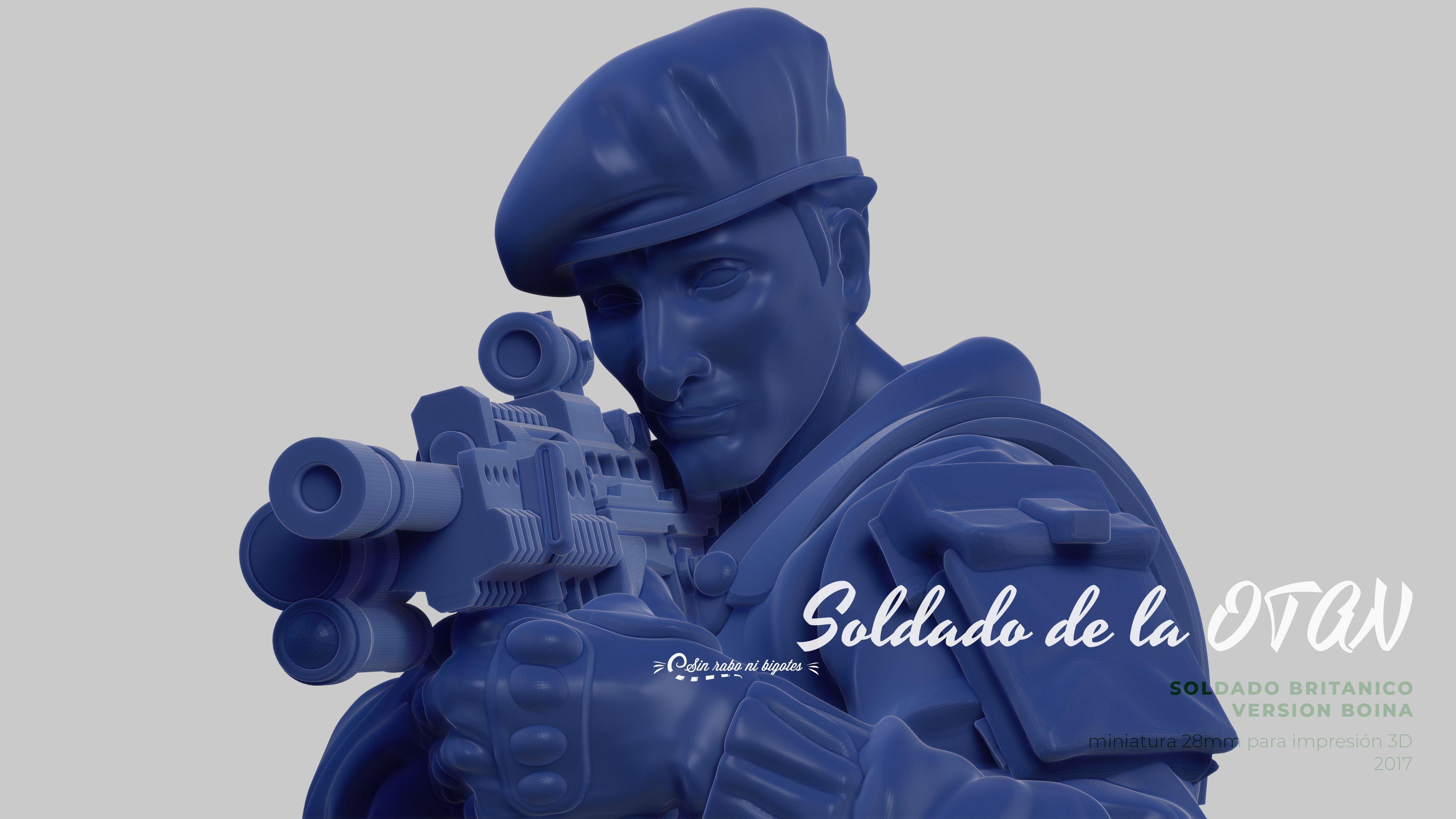miniatura soldado de la otan