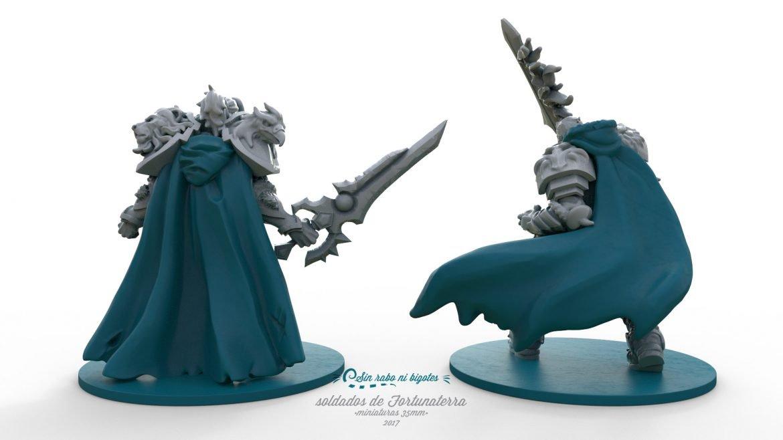 miniaturas de guerreros con capa pineable